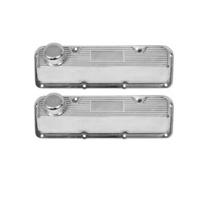 Valve Covers Polished Finned Aluminum Pair Ford 351c Boss 302