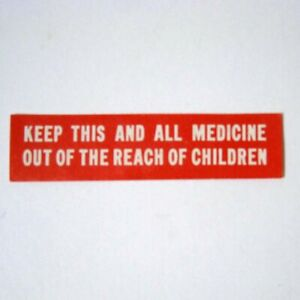 Keep Out Of Reach Child Antique Pharmacy Drug Store Medicine Bottle Label New