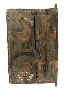 Baule Carved Door Cote D Ivoire African Art