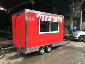 Brand New 3mx1 8m Concession Stand Trailer Mobile Kitchen Canopy Ship By Sea