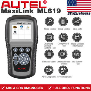 Autel Obd2 Auto Diagnostic Scanner Tool Abs Airbag Srs Engine Car Code Reader Us