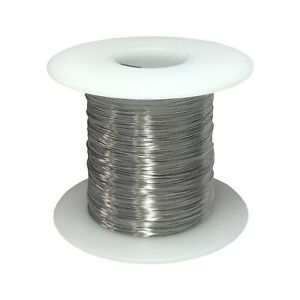30 Awg Gauge Stainless Steel 316l Wire 1000 Length 0 0100 Diameter