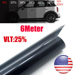 Car Uncut Window Tint Roll 25 Vlt 20 20 Ft Feet Home Commercial Office Film