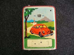 Vw Split Oval Bug Kdf Geobra Savings Money Box Germany Tin Toy K fer