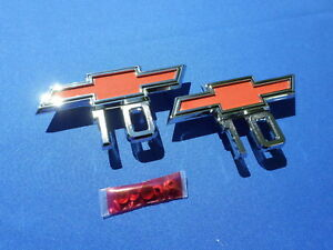 New 1967 1968 Chevy Pickup Truck C10 K10 Fender Emblem Pair Gm Licensed 3961365