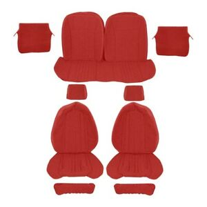 Upholstery Cloth Red Red 1987 1989 Mustang Lx Coupe Sport Seats
