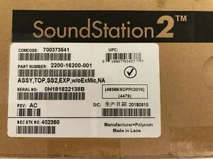 New Polycom Soundstation2 2200 16200 001 Full Duplex Conference Phone Expandable