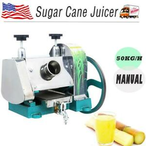 50kg h Manual Sugar Cane Press Juicer Juice Machine Extractor Mill Machine