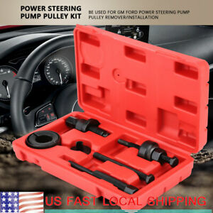 Power Steering Pump Pulley Kit Puller Remover Installation Tool For C2 Gm Ford