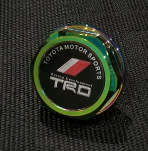 Trd Engine Oil Filler Cap Billet Neo Chrome For Toyota Camry Corolla Sienna