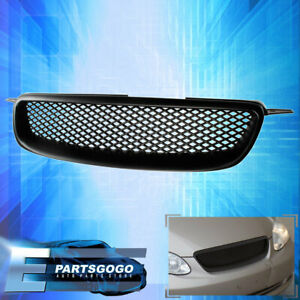 For 2003 2008 Toyota Corolla Front Bumper Abs Upper Grille Black Mesh Upgrade