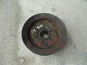 Cockshutt 30 Tractor Original Engine Motor Crankshaft Crank Drive Belt Pulley Cs