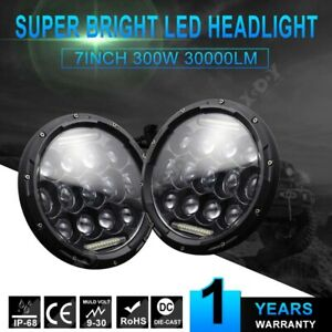 3 Light Modes 7inch 300w Led Headlight Fit For Jeep Wrangler Cj tj lj jk 2 Pcs