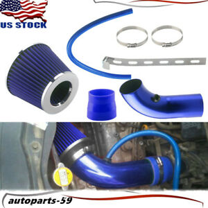 Universal Car Cold Air Intake Filter Alumimum Induction Pipe Hose System Blue Ap