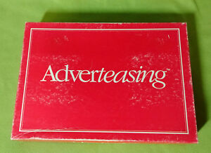Adverteasing Board Game of Slogans Commercials Jingles 1988 Cadaco Vintage $25.00