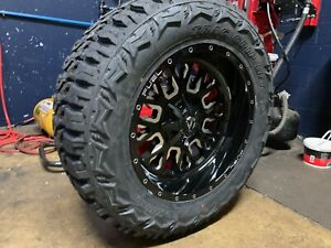 20x10 Fuel D611 Stroke 35 Mt Wheel And Tire Package 5x5 Jeep Wrangler Jk Jl