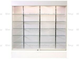 Wall White Display Show Case Retail Store Fixture W lights Knocked Down sc wc6wx