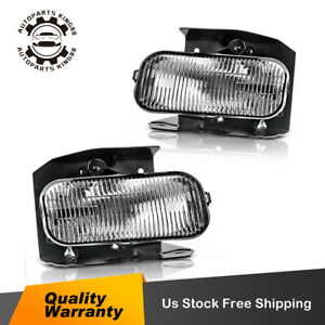 For 1999 2000 2001 2002 2003 Ford F 150 Clear Bumper Fog Light Lamp W Bulbs Pair