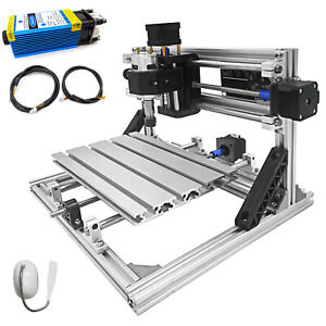 3 Axis Cnc Router Kit 2418 5500mw For Wood Injection Molding Material Milling