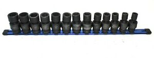 Mac Tools Expert E041654 13pc 6pt 1 2 dr Metric Swivel Impact Socket Set 12 24mm