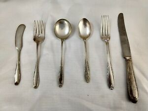 Leonore By Manchester Sterling Silver Flatware Dessert Service Set For 6