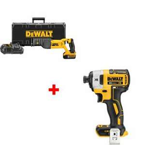 Dewalt Dcs380p1 20v Max Reciprocating Saw Kit With Free Impact Driver