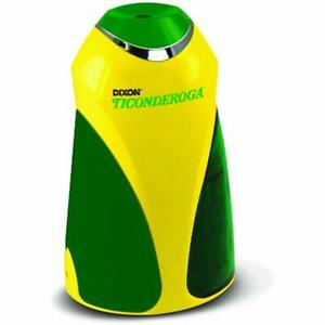 Ticonderoga Personal Electric Pencil Sharpener Vertical Yellow And Green Plus