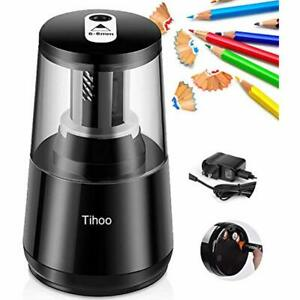 Electric Pencil Sharpener Heavy Duty For Kids Auto Stop No 2 colored Adapter Ac