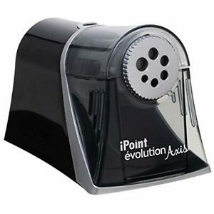 Electric Ipoint Evolution Axis Heavy Duty Pencil Sharpener Black And Silver