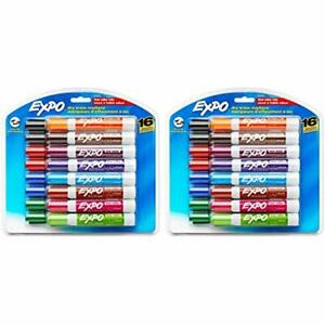 81045 Low odor Dry Erase Markers Chisel Tip Assorted Colors 2 Blister Packs