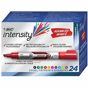 Intensity Advanced Dry Erase Marker Tank Style Chisel Tip Assorted Colors