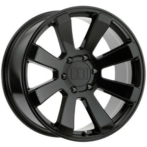 4 Level 8 Enforcer 17x8 5 5x135 24mm Gloss Black Wheels Rims