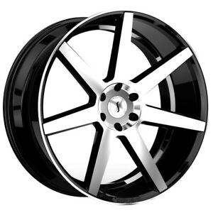 Status Journey 24x10 5x115 15mm Black Machined Wheel Rim