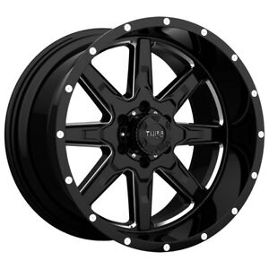 Tuff T 15 20x10 8x170 19mm Black Milled Wheel Rim