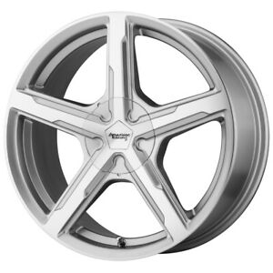 4 American Racing Ar921 Trigger 17x8 5x115 15mm Silver Wheels Rims 17 Inch