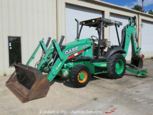 2014 Case 580n Backhoe Wheel Loader Tractor Telescopic Stick Aux Hyd Bidadoo