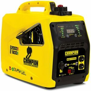 Champion 100402 1600 Watt Dual Fuel Inverter Generator W Parallel Capabili