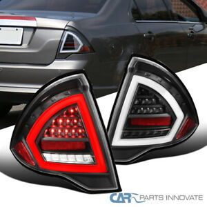 For 10 12 Ford Fusion Black Led Tube Tail Lights Rear Brake Lamps Pair Se Sel