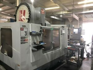 Used Haas Vf 3yt 50 Cnc Vertical Mill 2006 40 26 25 Tsc Gear Box Smtc Auger Vmc