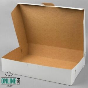 50 case Bundle 19 X 14 X 4 White Half Sheet Cake Cupcake Donut Bakery Box