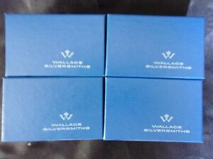 Set Of 8 Wallace Baroque 734 Silverplate Napkin Rings In 4 Original Boxes