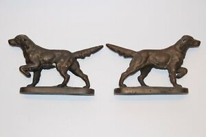 Antique Cast Iron Hunting Dog Bookend Doorstop