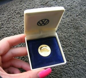 Real Gold Coin Volkswagen Vw 100000 Km 100 000 Kdf Bug Cox Beetle Nos