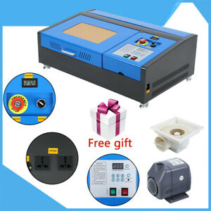40w Usb Co2 Laser Engraver Engraving Cutting Machine Cutter 300x200mm Free Gift