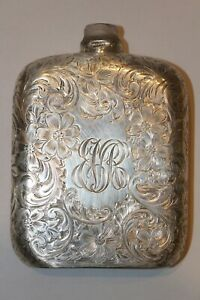 Antique Sterling Silver Liquor Flask Early 1900 S