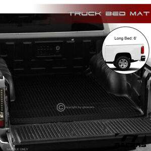 For 2015 2021 Colorado canyon 6 Black Rubber Diamond Truck Bed Floor Mat Liner