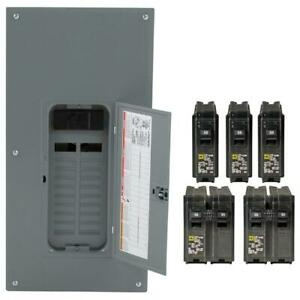 Square D Load Center 200 Amp 40 Circuit Main Breaker 20 Space Indoor Panel Box