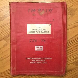 Clark Lima 550 tc Crane Parts Manual Book Catalog Truck Carrier Guide List