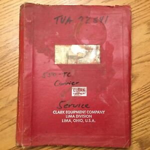 Clark Lima 550 tc Crane Service Shop Repair Manual Truck Carrier Guide Book