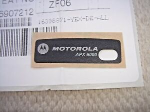 New Motorola Apx6000 Grille Nameplate Label Inc Free Shipping 33009261001